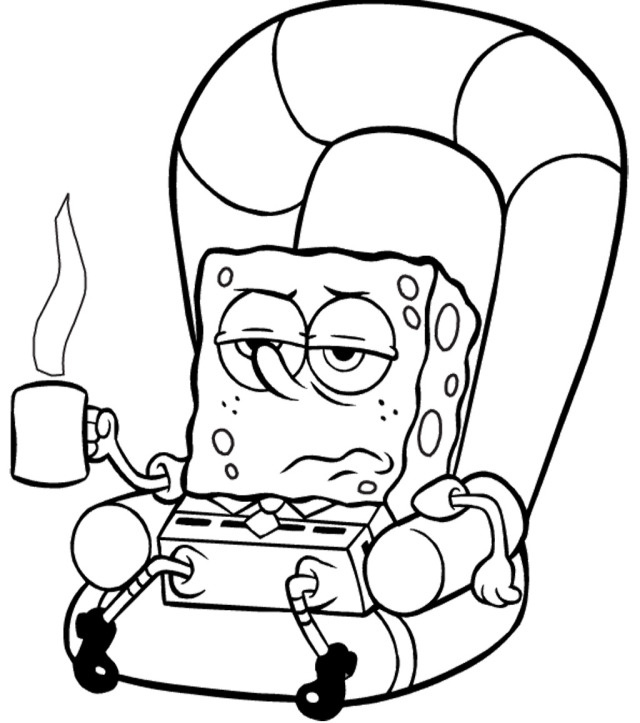 Spongebob Coloring Pages Printable Sponge Bob And Free