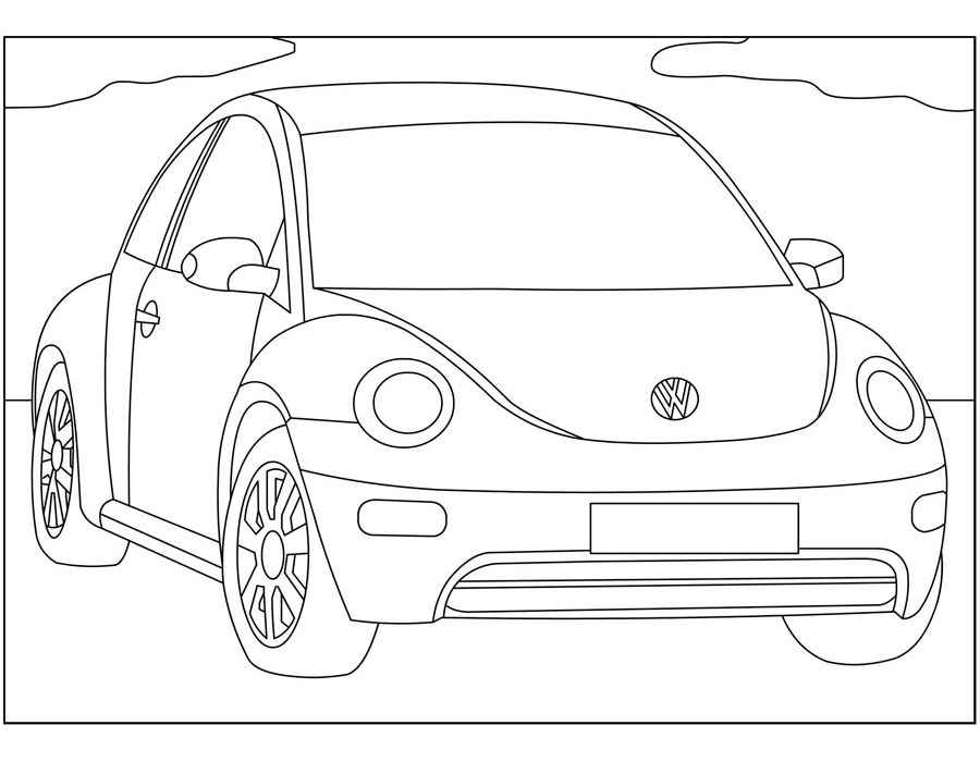 Volkswagen coloring pages to download and print for free