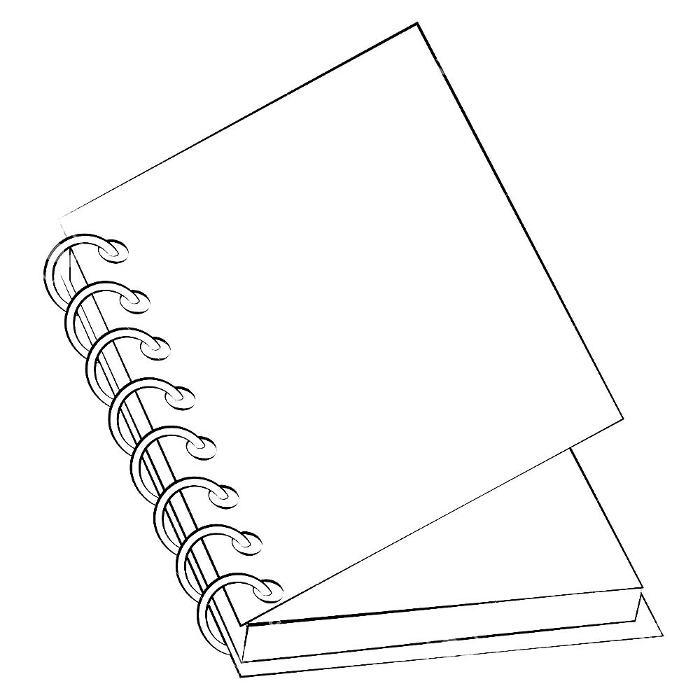 Notebook coloring pages to download and print for free