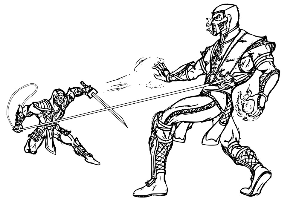 Mortal Kombat coloring pages to download and print for free