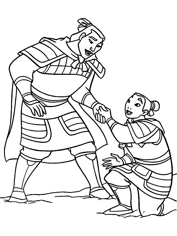 Mulan coloring pages to download and print for free