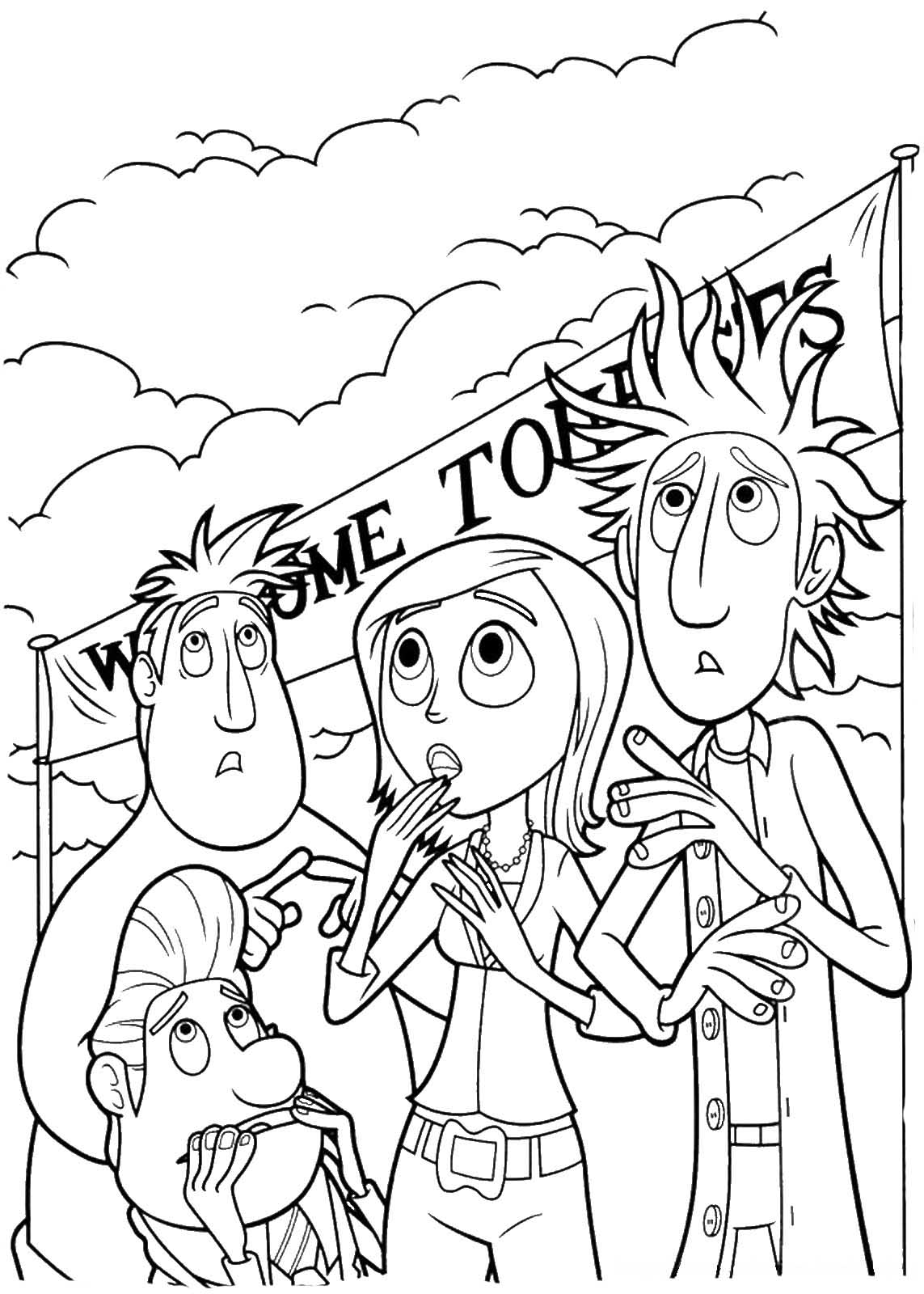 Cloudy With A Chance Of Meatballs Coloring Pages To