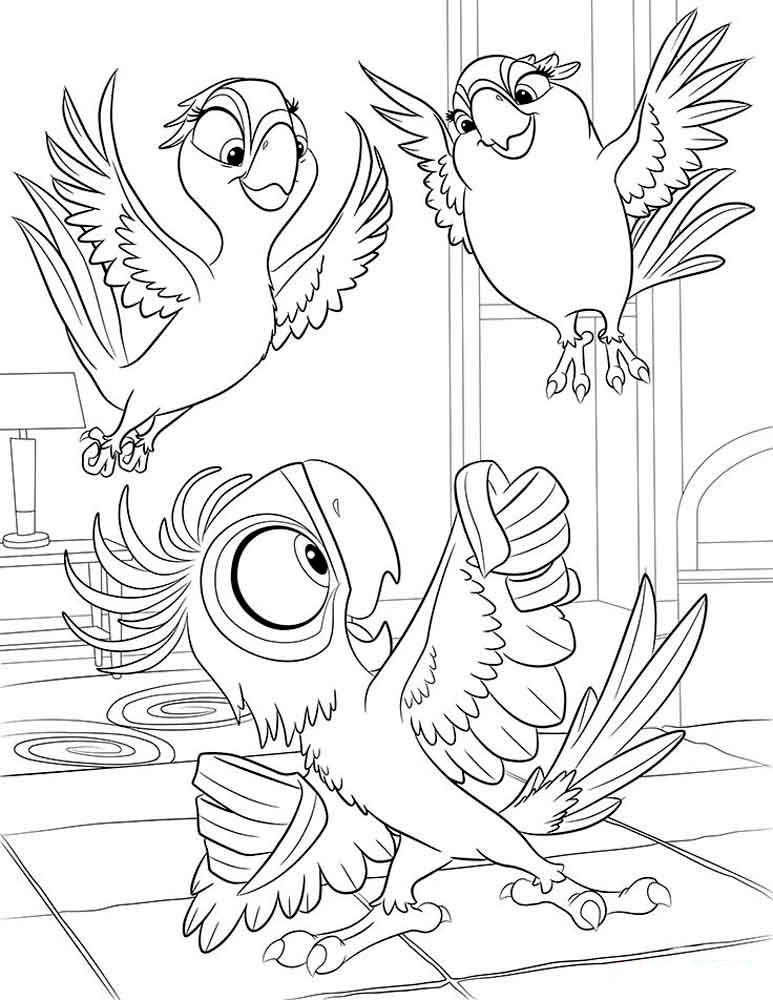 Rio 2 coloring pages to download and print for free