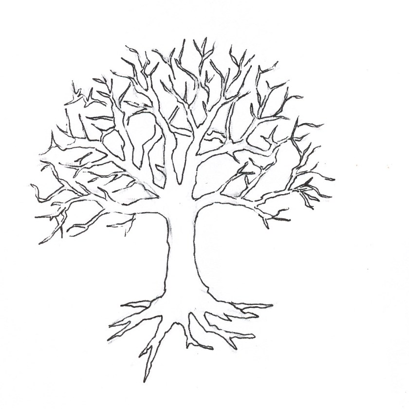 tree out leaves coloring page to print and download