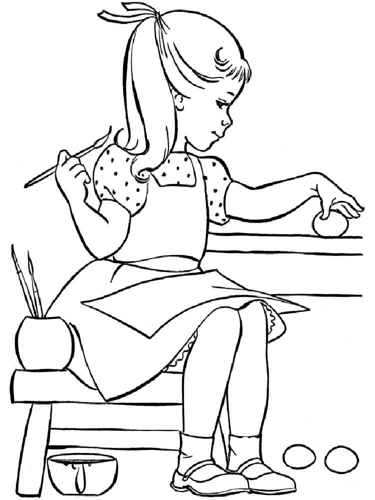 Girl coloring pages to download and print for free