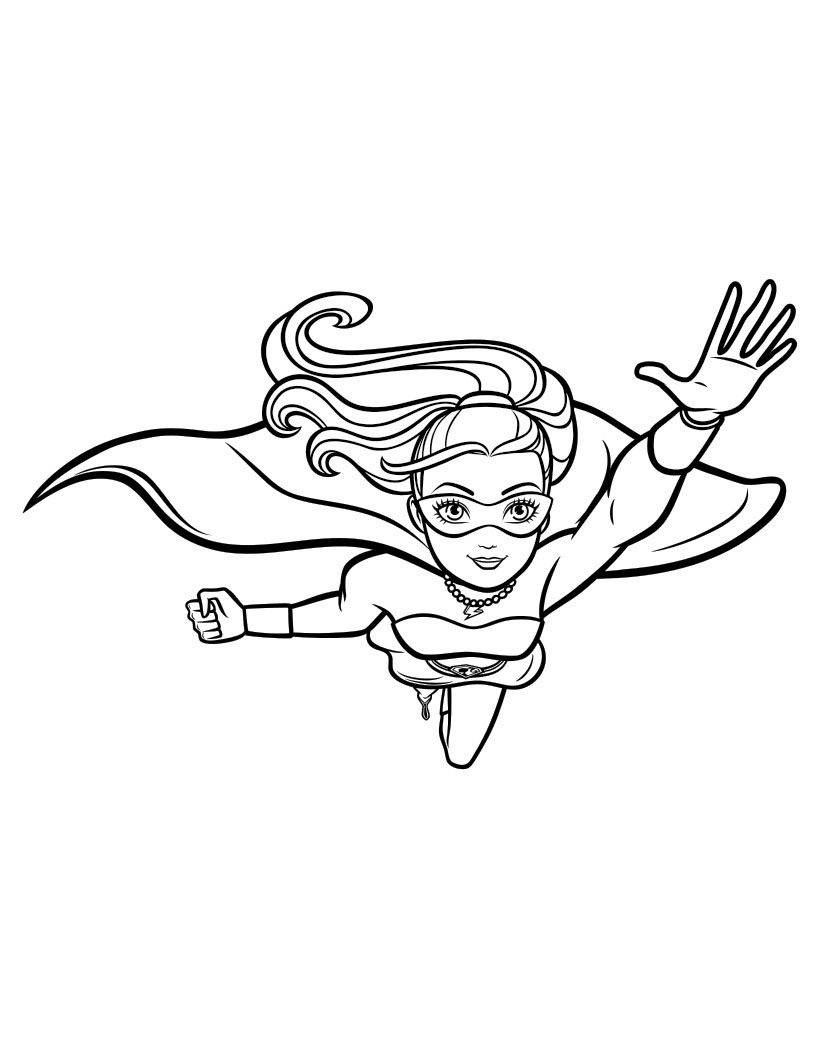 Barbie in Princess Power coloring pages to download and