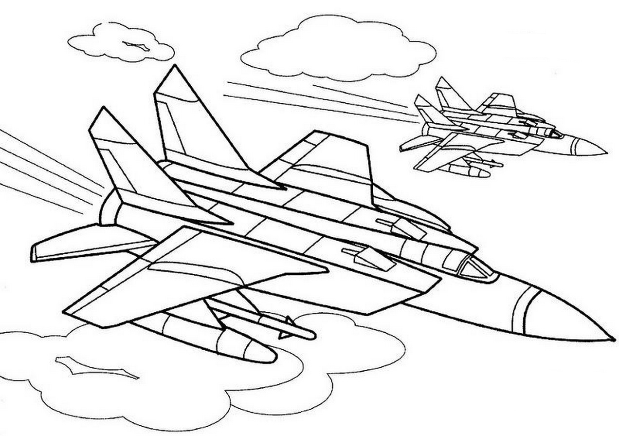 War Plane coloring pages to download and print for free