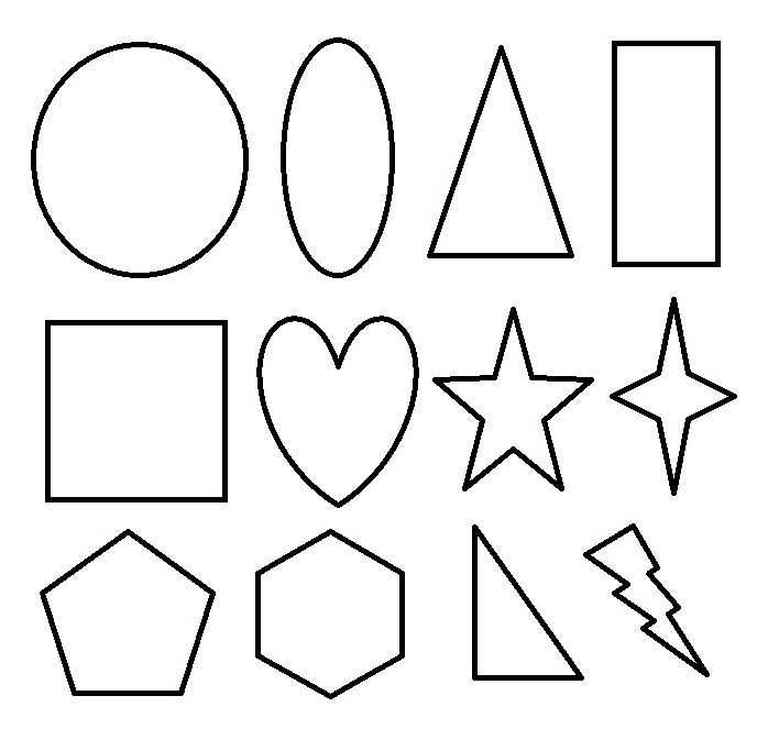 Shapes Coloring Pages for childrens printable for free