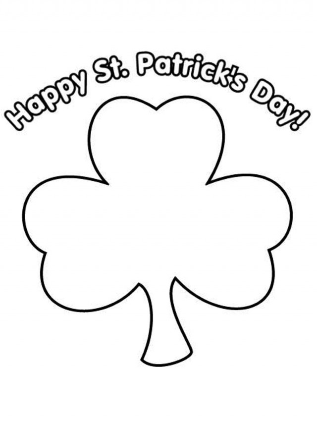 St Patrick's Day Coloring Pages for childrens printable