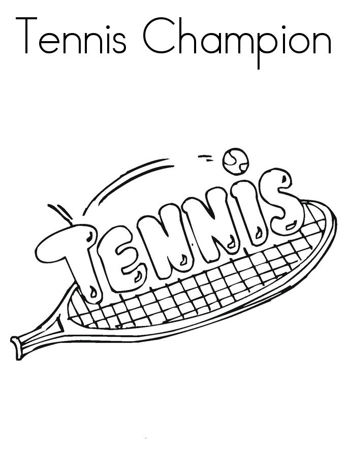 Tennis Coloring Pages for childrens printable for free
