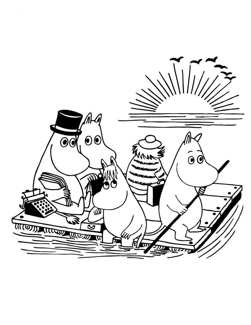 Moomin coloring pages to download and print for free