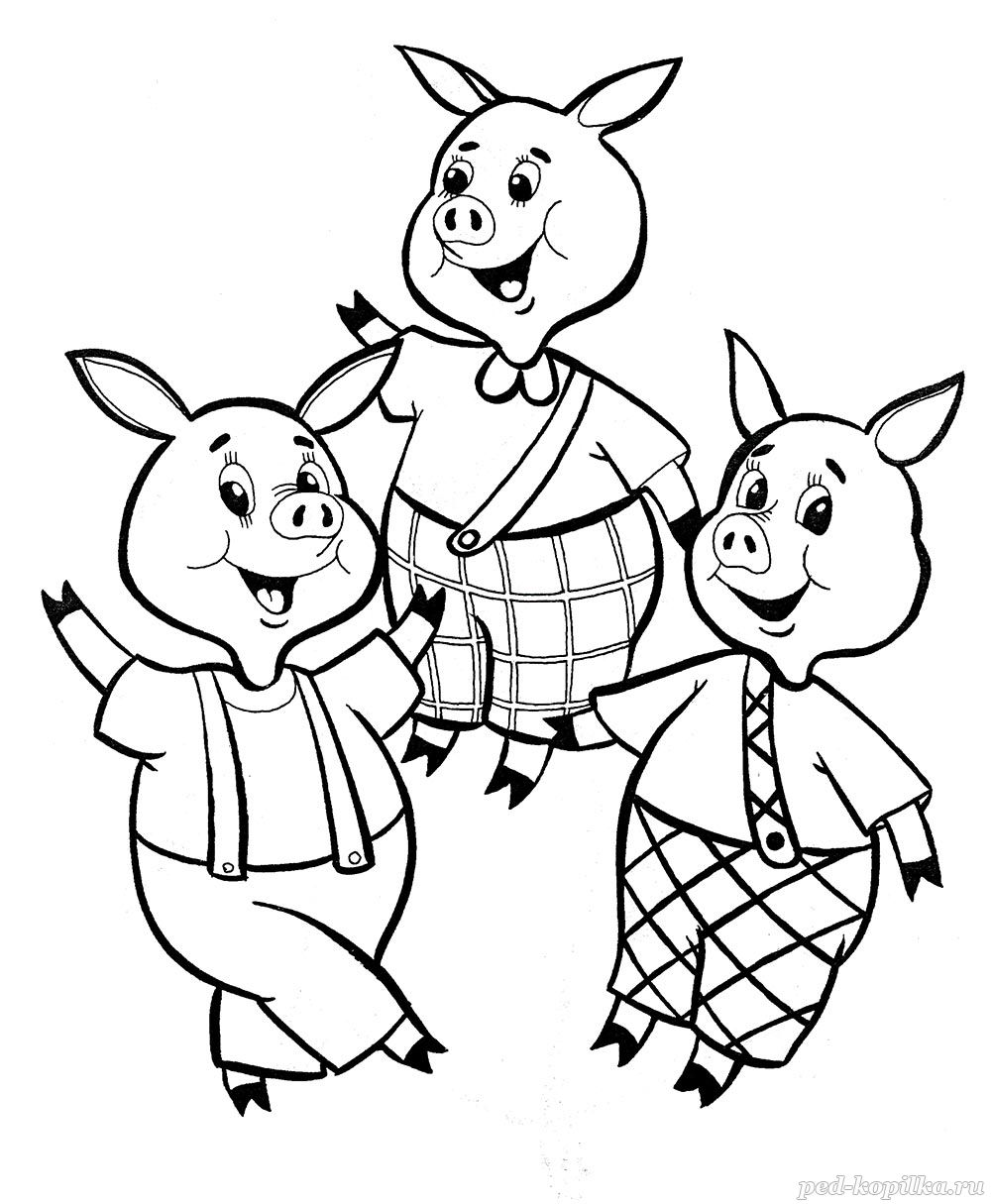Printable Coloring Pictures Of The Three Little Pigs