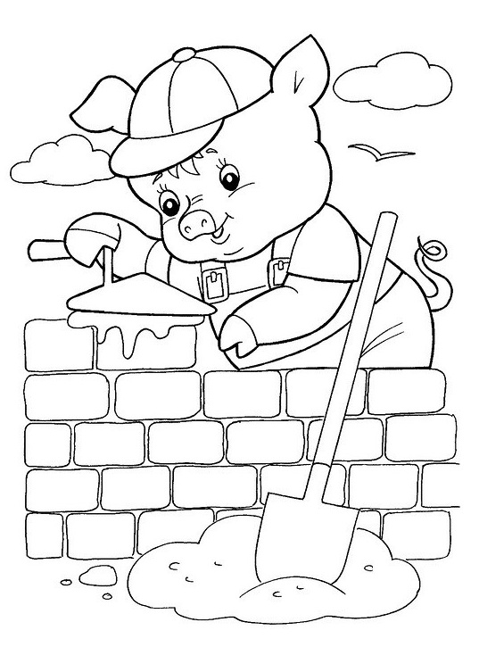 Little Pigs Rhymes Coloring Pages Coloring Pages