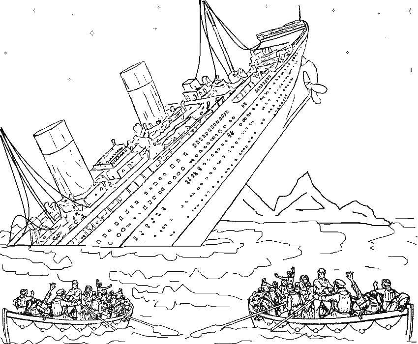 Titanic coloring pages to download and print for free