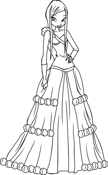 ,Winx Princess coloring pages, download and print for free