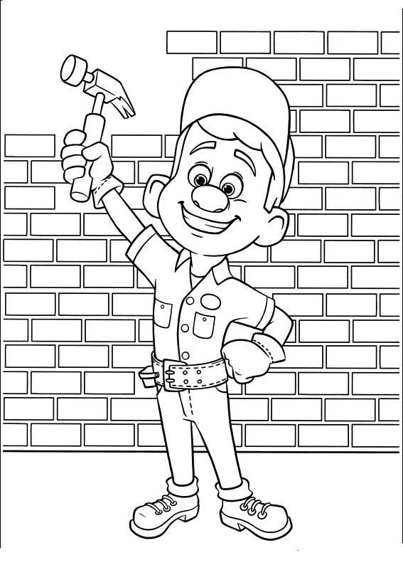 Wreck-It Ralph coloring pages to download and print for free