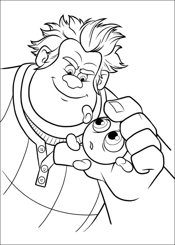 Plantas contra zombies para colorear. Wreck-It Ralph coloring pages to download and print for free