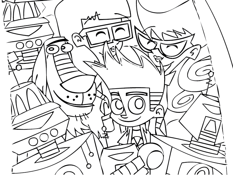 Johnny Test Coloring Pages to download and print for free