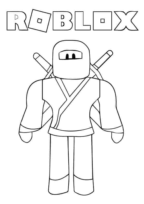Roblox Ninja Coloring Page Coloringwithkids Com