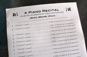 Piano Recital Program Template #4 - Color In My Piano
