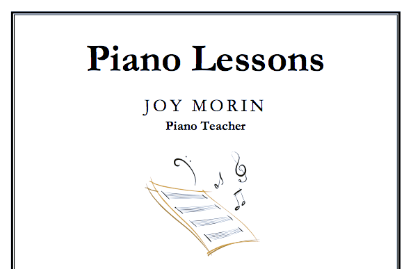 Just Added: Piano Lessons Flyer Template