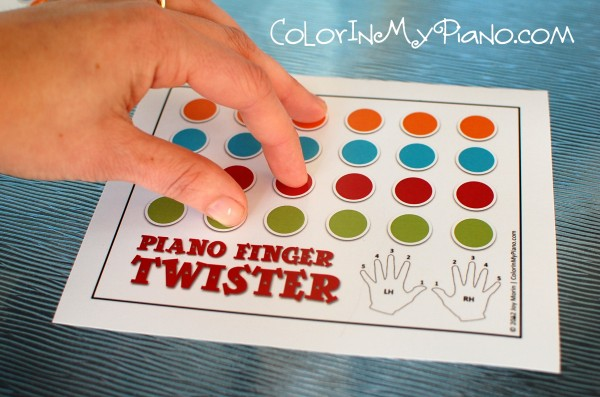 picture regarding Finger Twister Printable named Particularly Supplemental: Piano Finger Twister video game - Coloration Within just My Piano