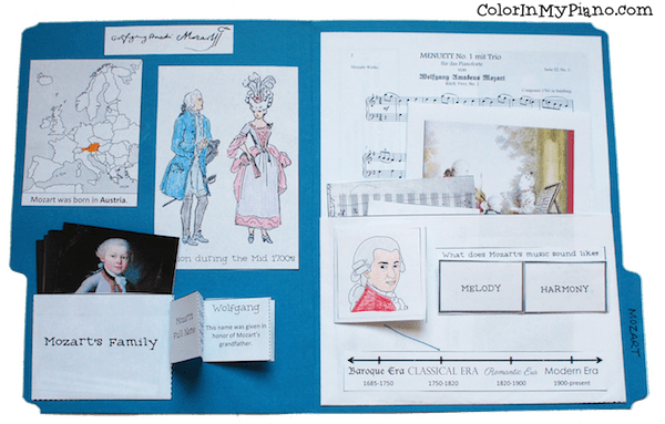 Mozart lapbook inside