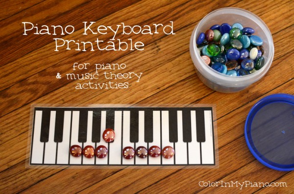 graphic about Printable Piano Keyboard Template known as Piano Keyboard Printable - Colour Inside of My Piano