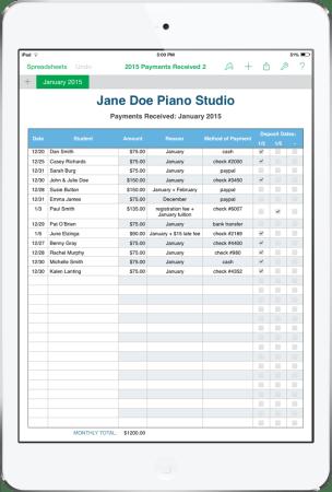 IPad mini screenshot - Payment Received Form