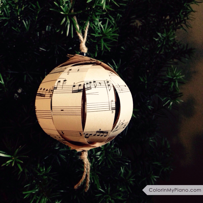 Sheet Music Christmas Ornament