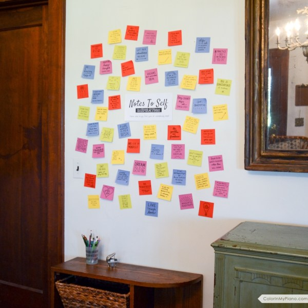Notes To Self: Wall Art Kit - Color In My Piano