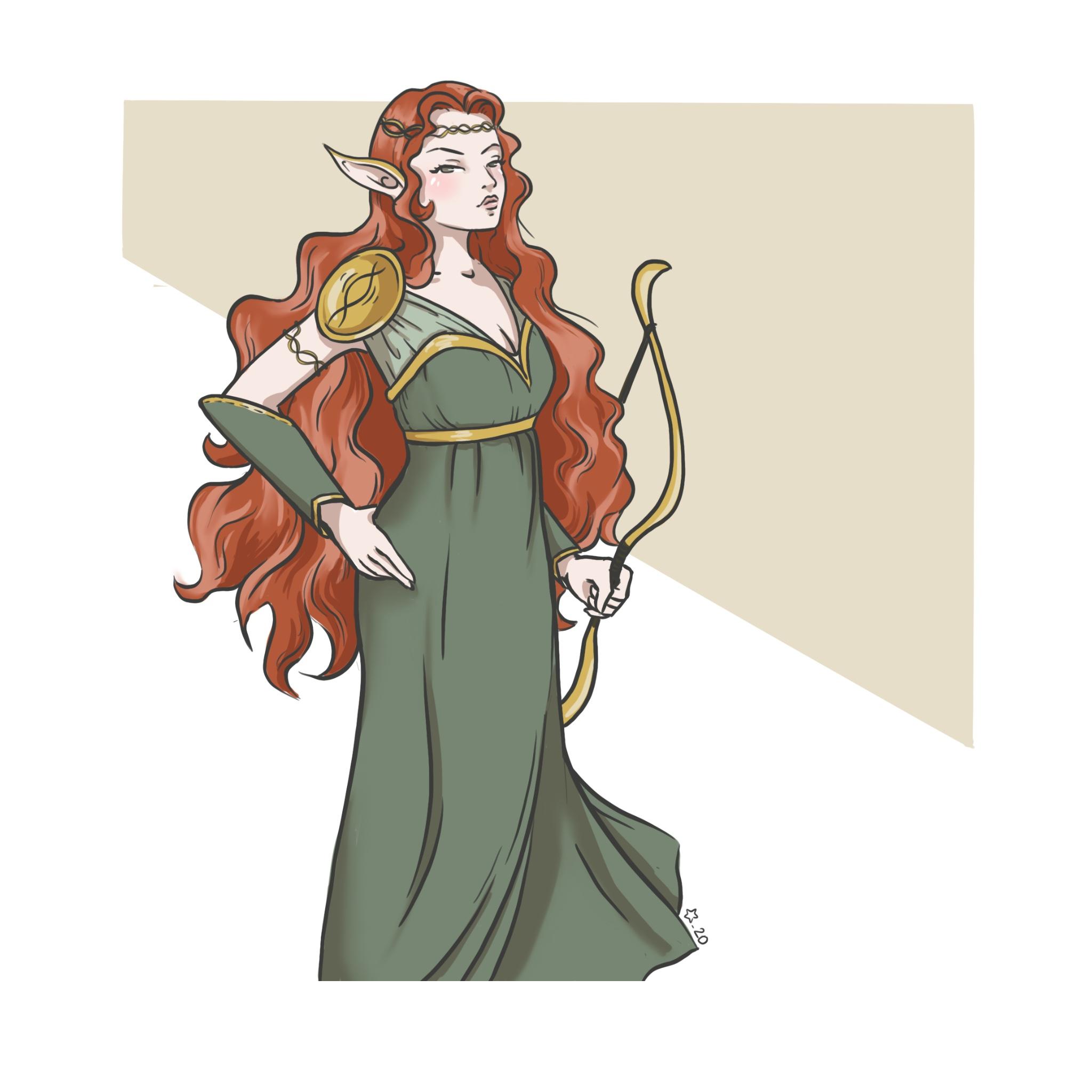 Illustration : personnage fantasy elfe