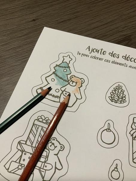 illustration : photo pour déco de noël petit Nours à faire soi même