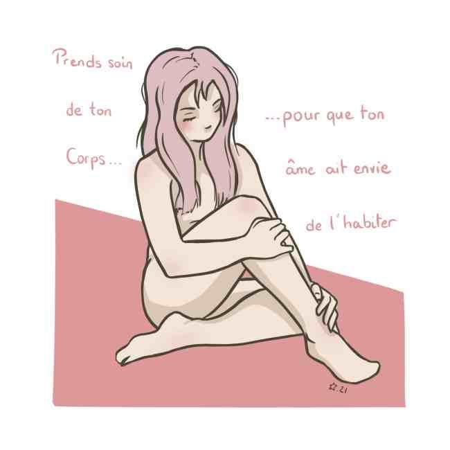illustration : la naturopathie / bien-etre à l'écoute de son corps