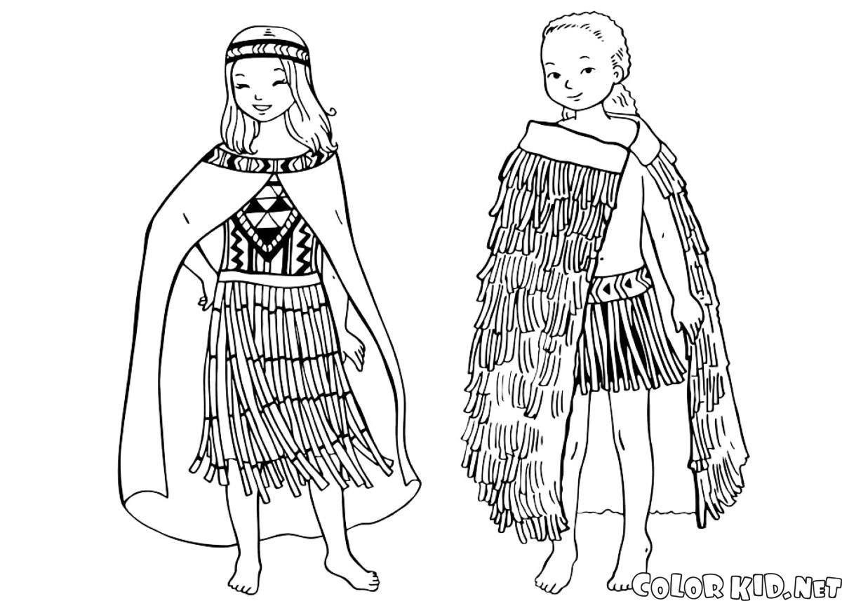 Traditional African Clothing Coloring Pages