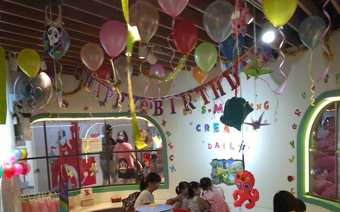Birthday Party at Color Kid's World Creative Art Corner