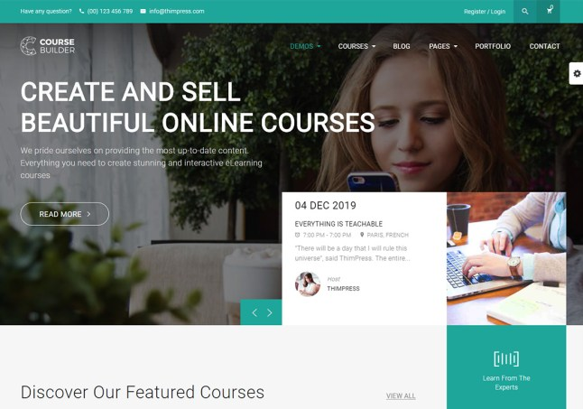 20 Best Online Course WordPress Themes For eLearning 2021 - Colorlib