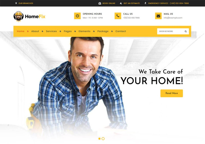 HomeFix Plumber WordPress Theme