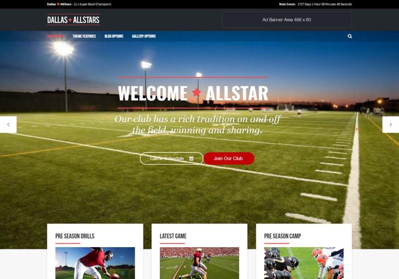 Allstar WordPress Golf Theme