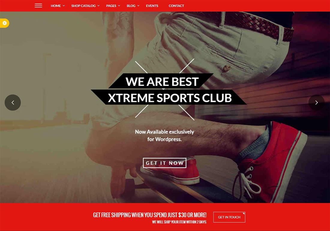 Tema de golf Xtreme Sports WordPress
