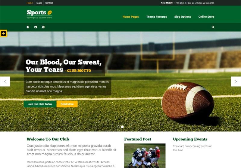 Deporte WordPress Golf Theme