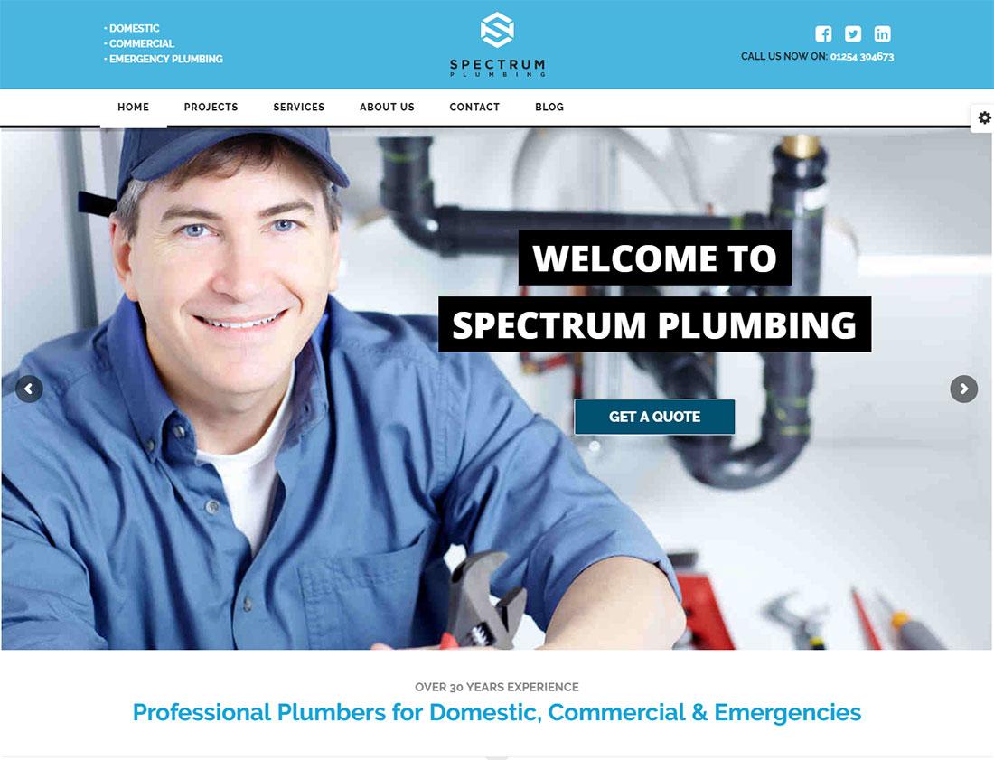Spectrum Plumber WordPress Theme