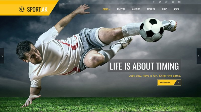 SportAK WordPress Golf Theme