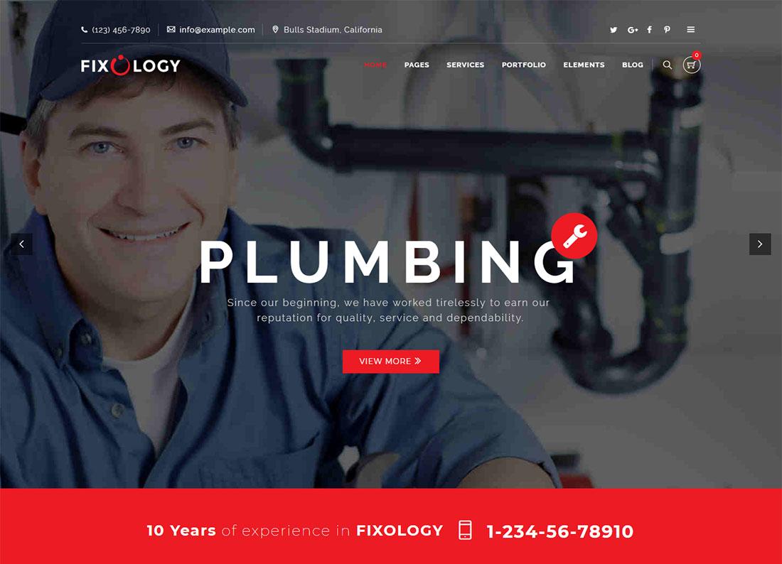 Fixology Plumber WordPress Theme