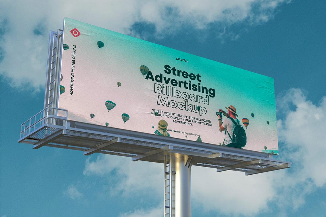 Maqueta de Street Billboard PSD