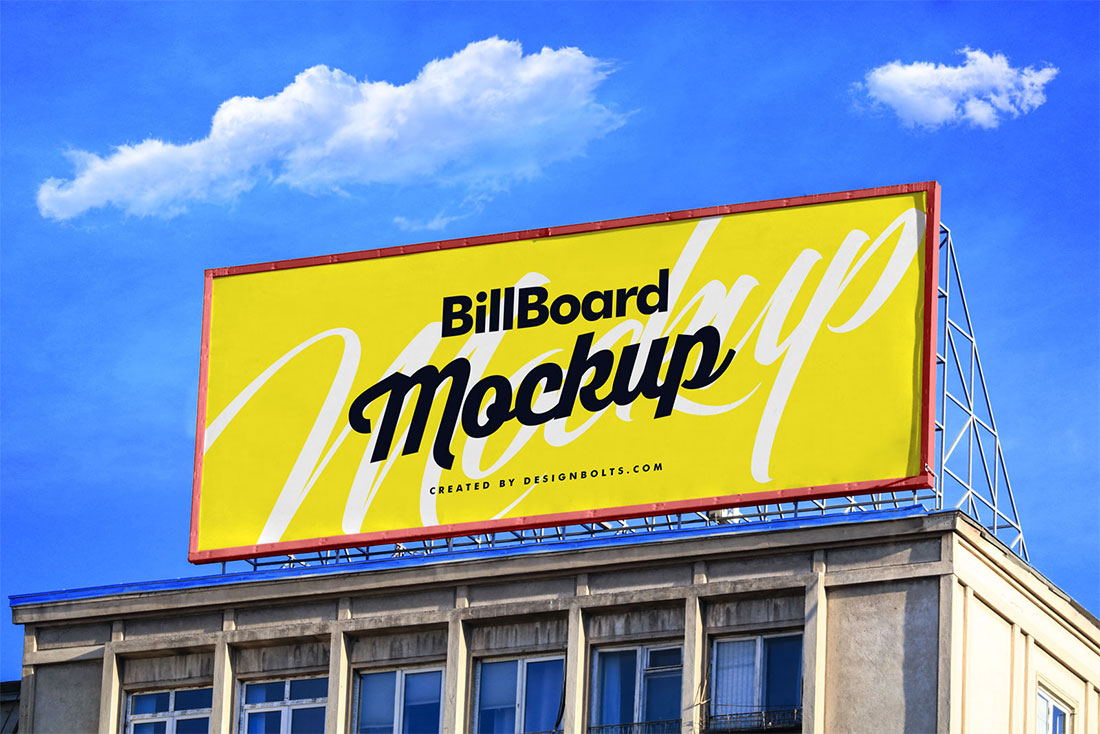 Edificio Billboard PSD Mockup