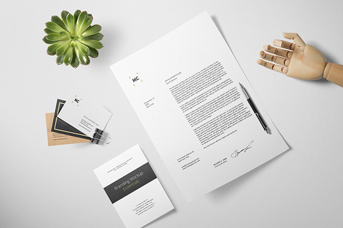 32 best letterhead mockups