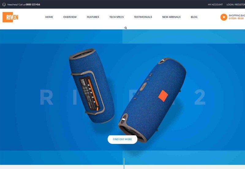 Riven - Tema de WordPress para un solo producto