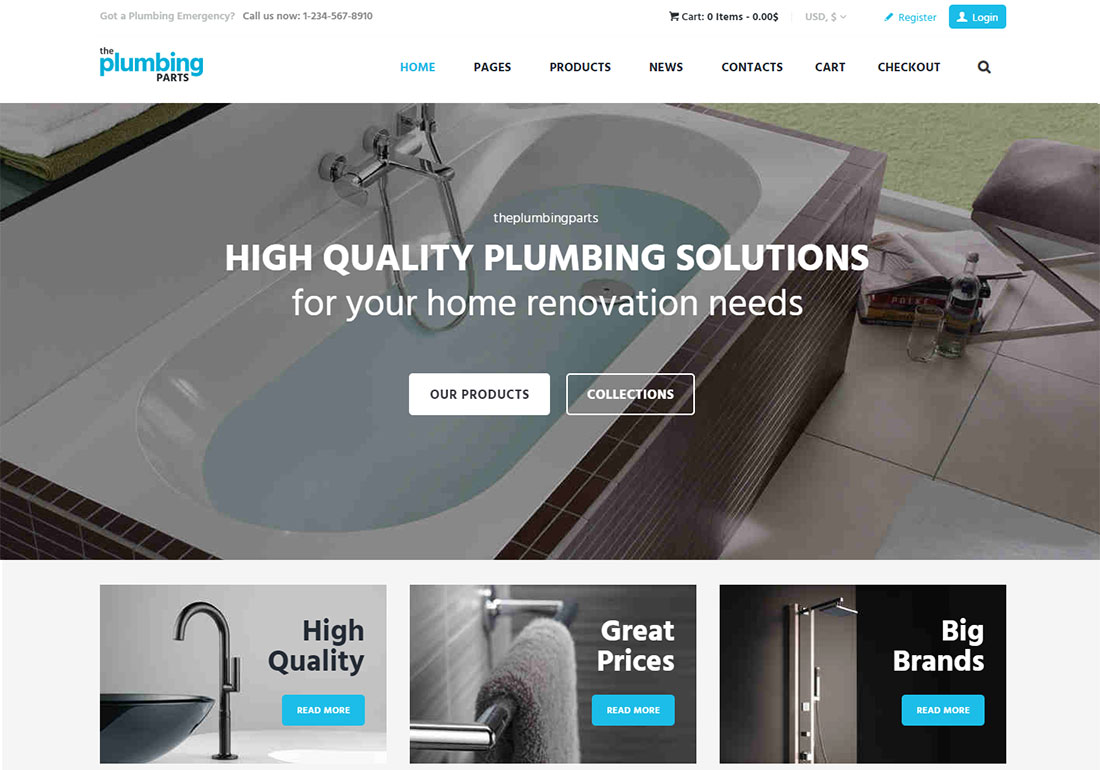 The Plumbing Store Plumber WordPress Theme