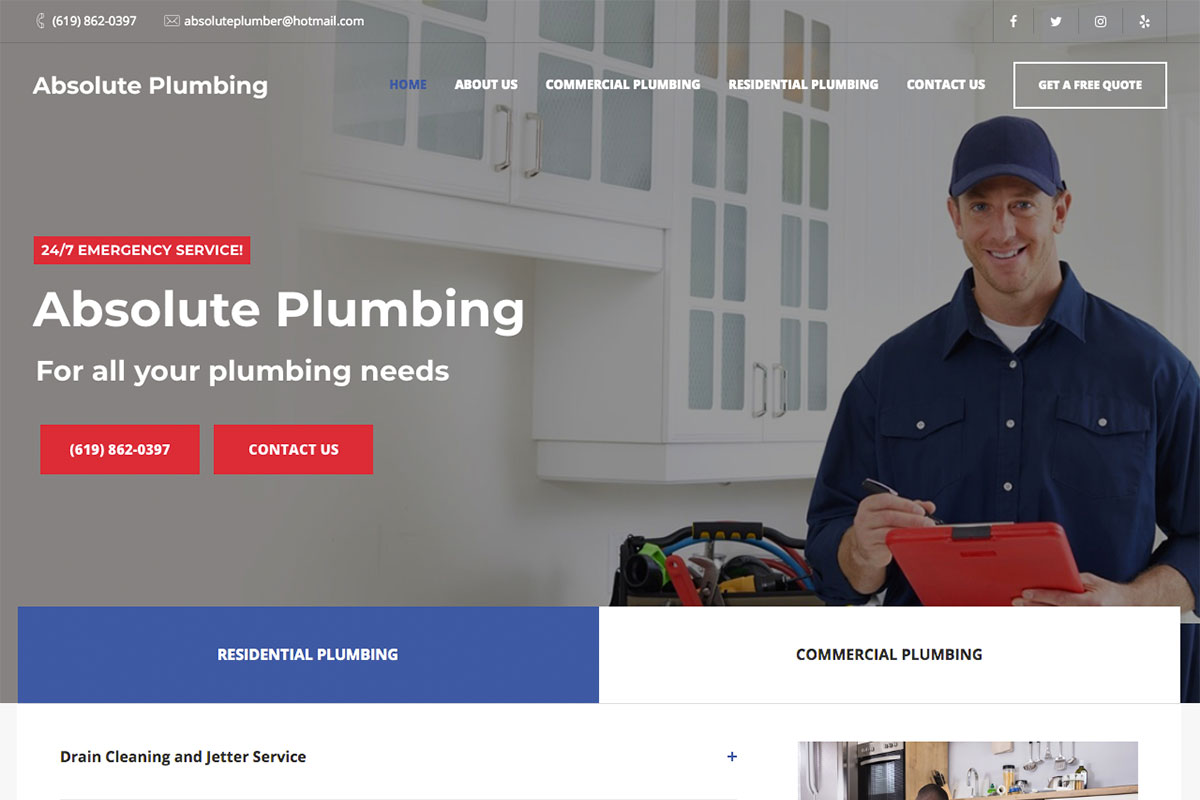 17 Best Plumbing Websites Design For Inspiration 2020 Colorlib